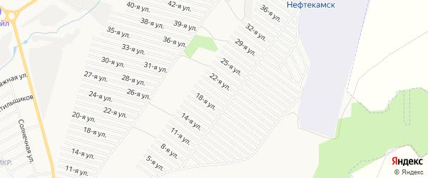 СНТ Полет на карте Нефтекамска с номерами домов
