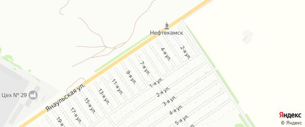 6-я улица на карте СНТ Буровика с номерами домов