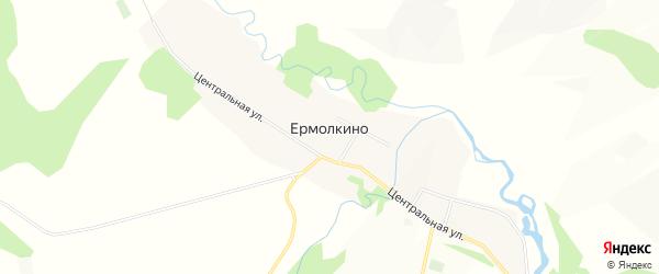 Карта села Ермолкино в Башкортостане с улицами и номерами домов