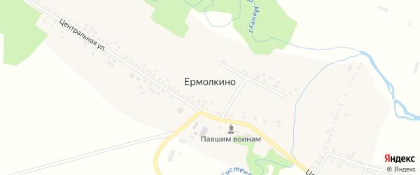 Молодежная улица на карте села Ермолкино Башкортостана с номерами домов