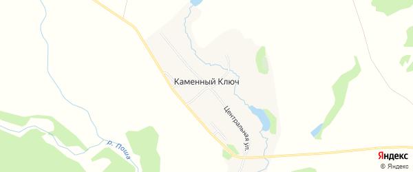 Карта деревни Каменного Ключа города Чайковского в Пермском крае с улицами и номерами домов