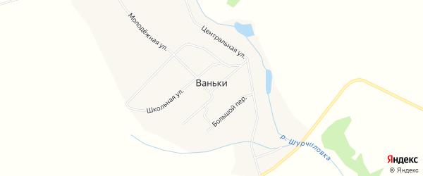 Карта села Ваньки города Чайковского в Пермском крае с улицами и номерами домов