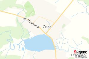 Карта с. Сива Пермский край