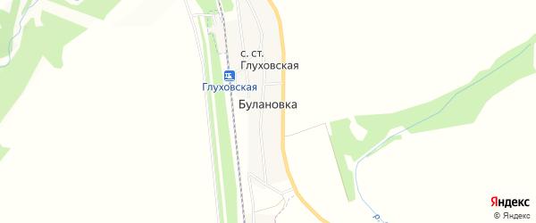 Карта деревни Булановки в Башкортостане с улицами и номерами домов