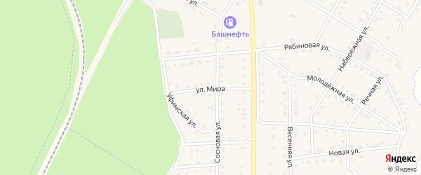 Улица Мира на карте села Амзи с номерами домов