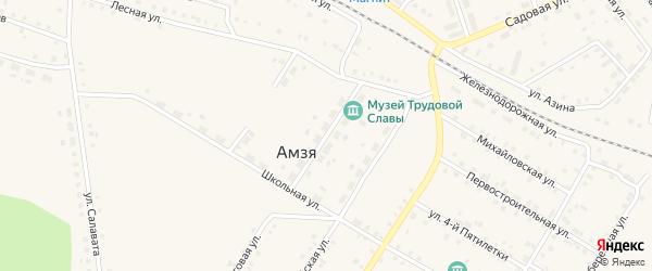 Луговой переулок на карте села Амзи с номерами домов
