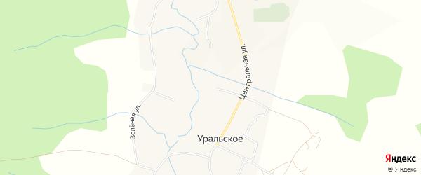 Карта Уральского села города Чайковского в Пермском крае с улицами и номерами домов
