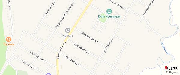 Колхозная улица на карте села Амзи с номерами домов