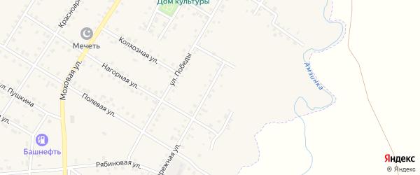Набережная улица на карте села Амзи с номерами домов