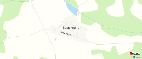 Карта деревни Вершинино в Пермском крае с улицами и номерами домов