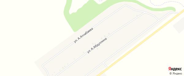 Улица А.Атнабаева на карте села Нижнечерекулево Башкортостана с номерами домов