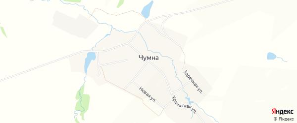 Карта деревни Чумна города Чайковского в Пермском крае с улицами и номерами домов