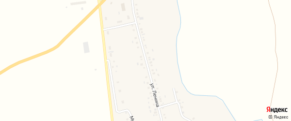 Улица Ленина на карте села Новобалтачево с номерами домов