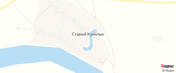 Дюртюлинская улица на карте деревни Старого Каинлыка с номерами домов