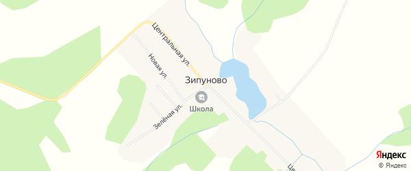Карта села Зипуново города Чайковского в Пермском крае с улицами и номерами домов