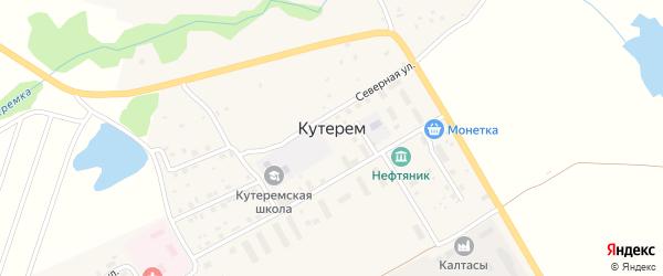 Садовая улица на карте села Кутерема с номерами домов
