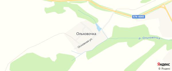Территория ур-ще 1-я Ямина на карте деревни Ольховочка с номерами домов