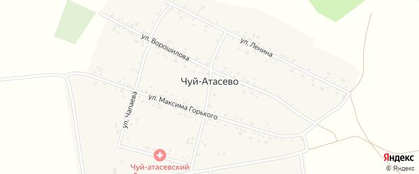 Улица М.Горького на карте деревни Чуй-Атасево с номерами домов