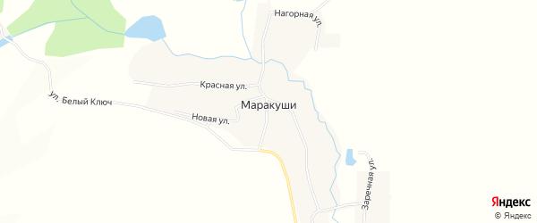 Карта деревни Маракуши города Чайковского в Пермском крае с улицами и номерами домов