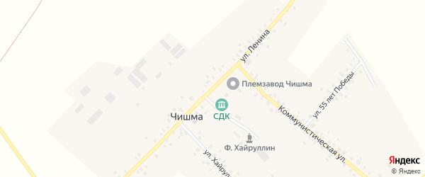 Улица Ленина на карте села Чишмы с номерами домов
