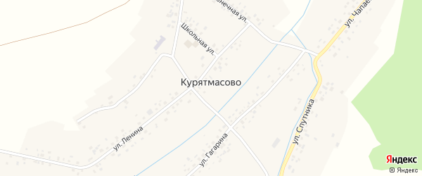 Улица Спутника на карте села Курятмасово с номерами домов