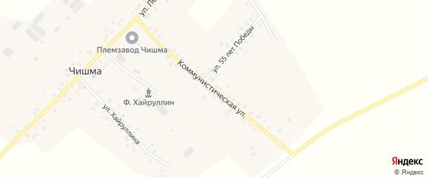 Коммунистическая улица на карте села Чишмы с номерами домов