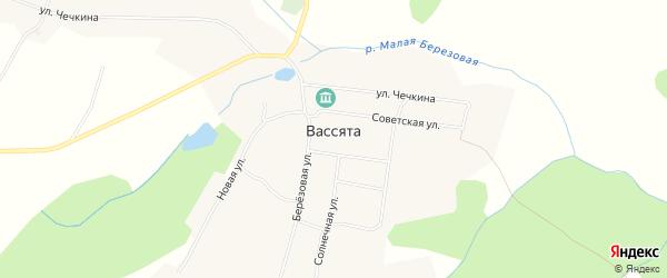 Карта села Вассяты города Чайковского в Пермском крае с улицами и номерами домов