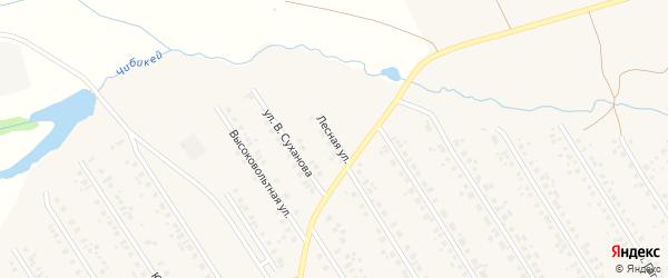 Лесная улица на карте села Чекмагуш с номерами домов
