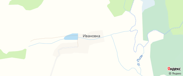 Карта деревни Ивановки города Чайковского в Пермском крае с улицами и номерами домов
