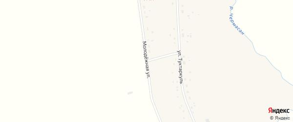 Молодежная улица на карте села Рассвета с номерами домов