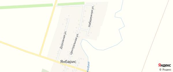 Набережная улица на карте деревни Янбариса с номерами домов