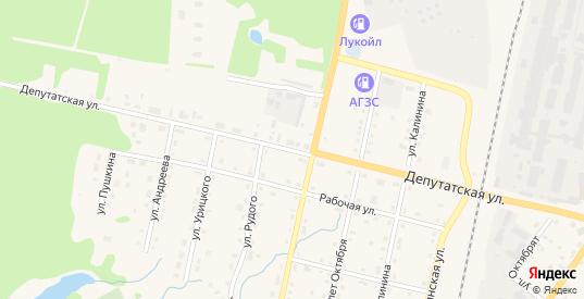 Депутатская улица в Верещагино с номерами домов на карте. Спутник и схема онлайн