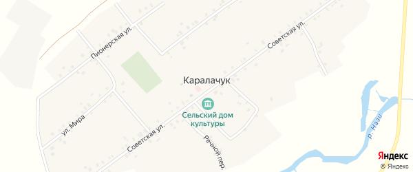 Полевой переулок на карте села Каралачук с номерами домов