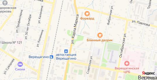 Улица Кадочникова в Верещагино с номерами домов на карте. Спутник и схема онлайн