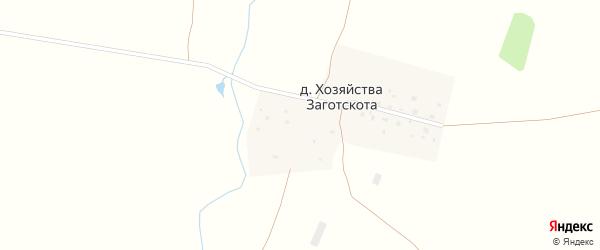Набережная улица на карте деревни Хозяйства Заготскота с номерами домов