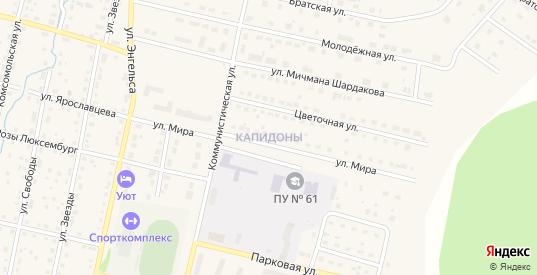 Территория ГСК-16 пр.Капидоны в Верещагино с номерами домов на карте. Спутник и схема онлайн