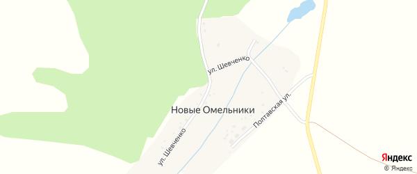 Улица Шевченко на карте деревни Новые Омельники с номерами домов