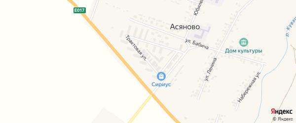 Трактовая улица на карте села Асяново с номерами домов