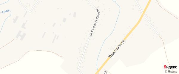 Улица Салавата Юлаева на карте села Слака с номерами домов