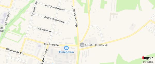 Дорожный переулок на карте Очера с номерами домов