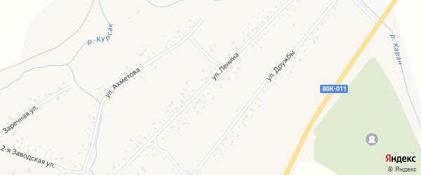 Улица Ленина на карте села Слака с номерами домов