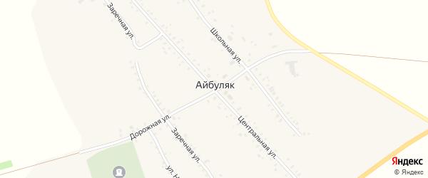 Центральная улица на карте села Айбуляка с номерами домов