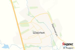 Карта с. Шарлык Оренбургская область