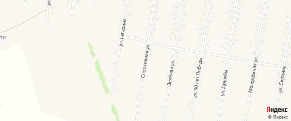 Спортивная улица на карте села Калтасов с номерами домов