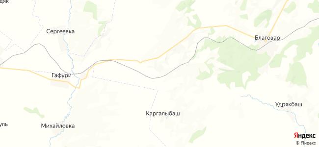 Верхние Каргалы на карте
