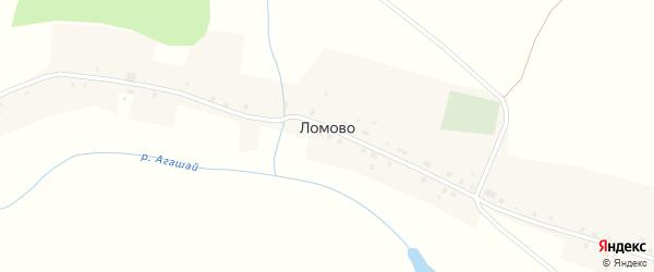 Центральная улица на карте деревни Ломово с номерами домов