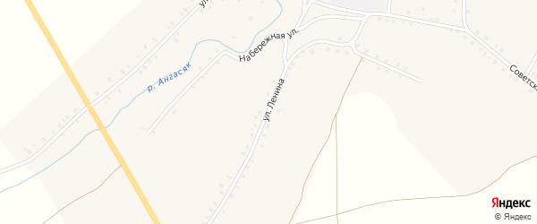 Улица Ленина на карте села Ангасяка с номерами домов