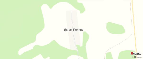 Карта деревни Ясной Поляны в Башкортостане с улицами и номерами домов