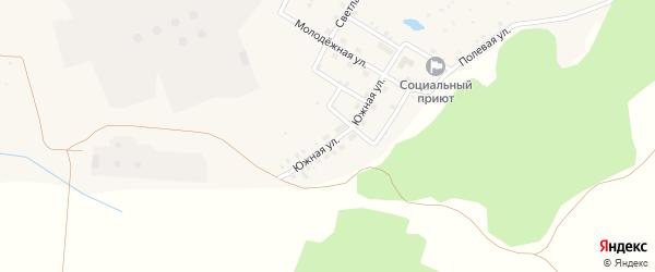 Южная улица на карте села Первомайского с номерами домов