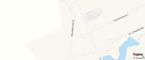 Пионерская улица на карте села Ангасяка с номерами домов